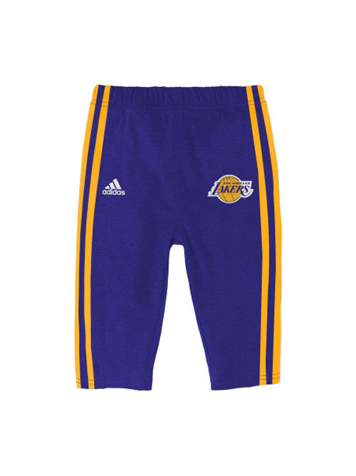 Los Angeles Lakers Newborn Little Rebounder Creeper Pant Set