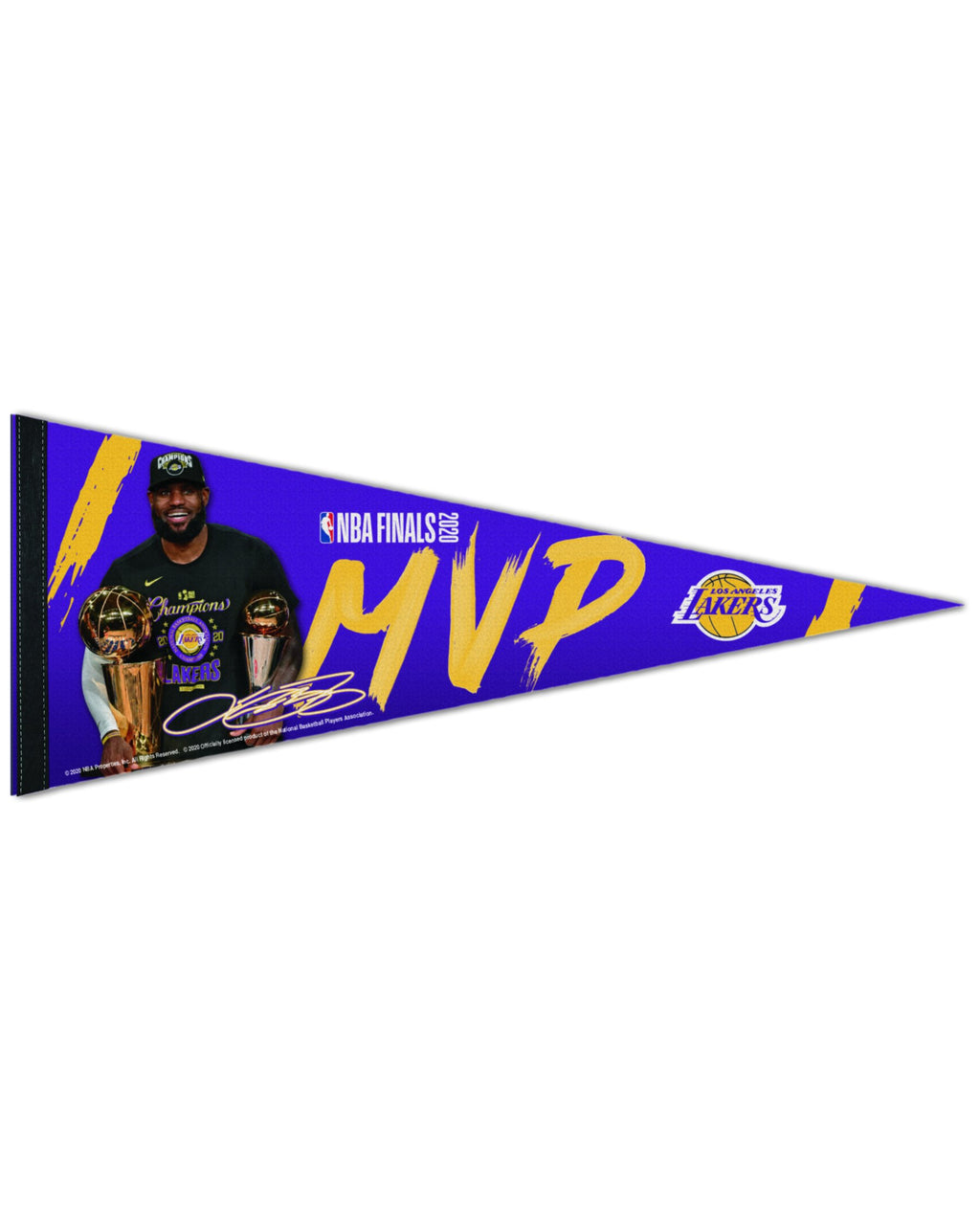 LAKERS LEBRON JAMES FINALS MVP PENNANT