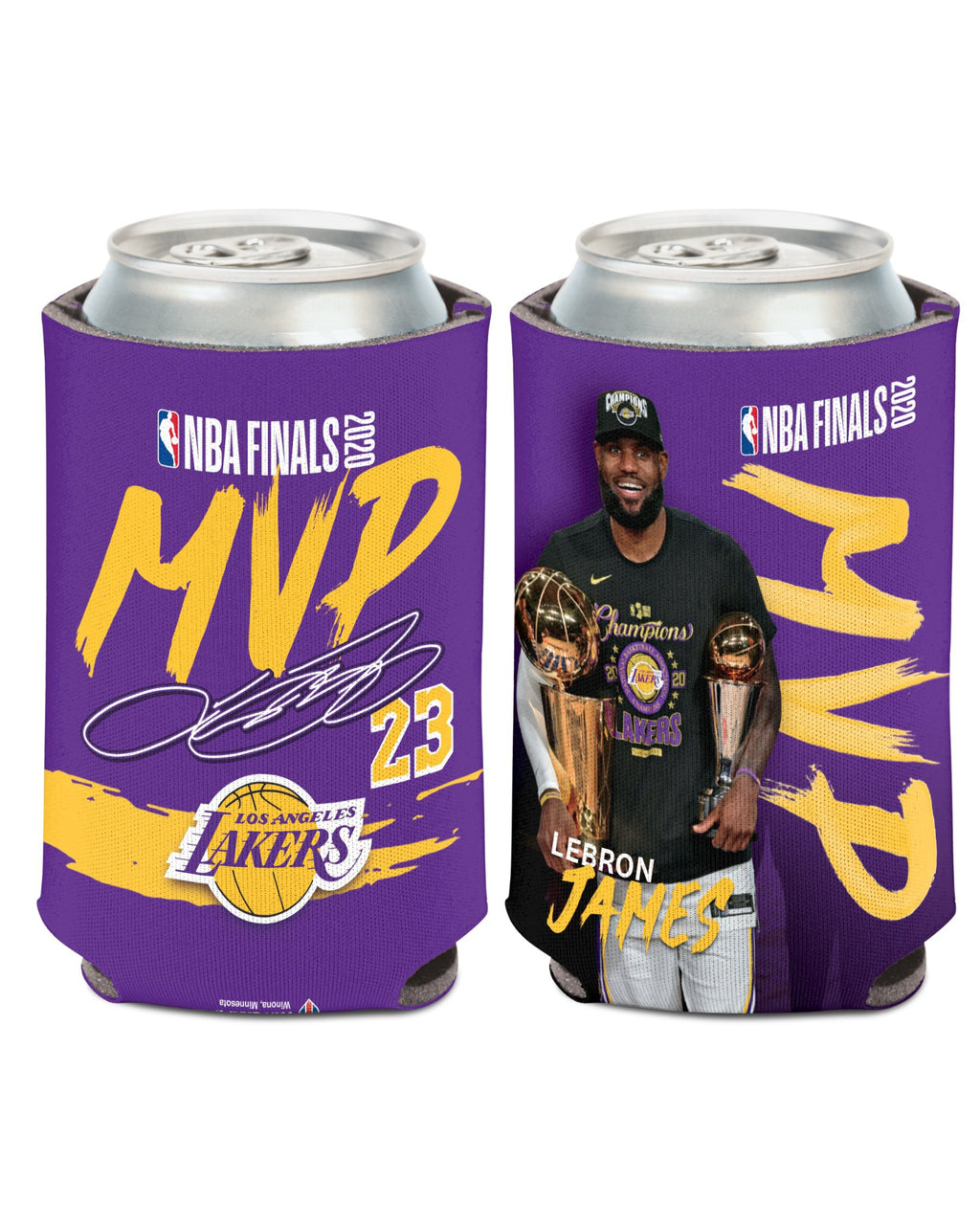 LAKERS JAMES FINALS MVP 12OZ CAN COOLER