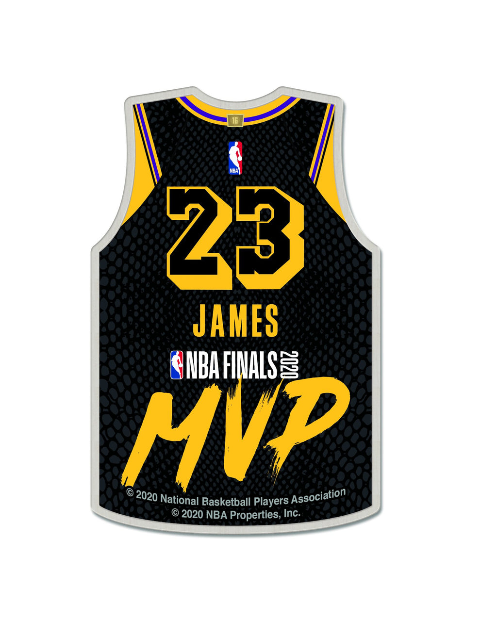 LAKERS LEBRON JAMES FINALS MVP PIN