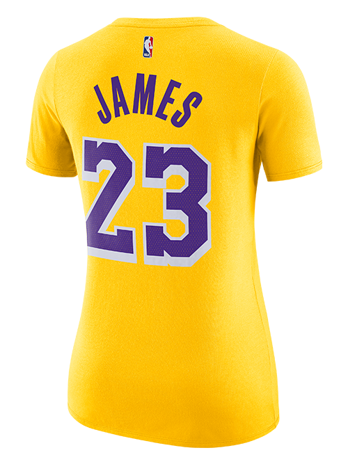 dbf8a1c2b Los Angeles Lakers LeBron James Women s Icon Player T-Shirt – Lakers ...