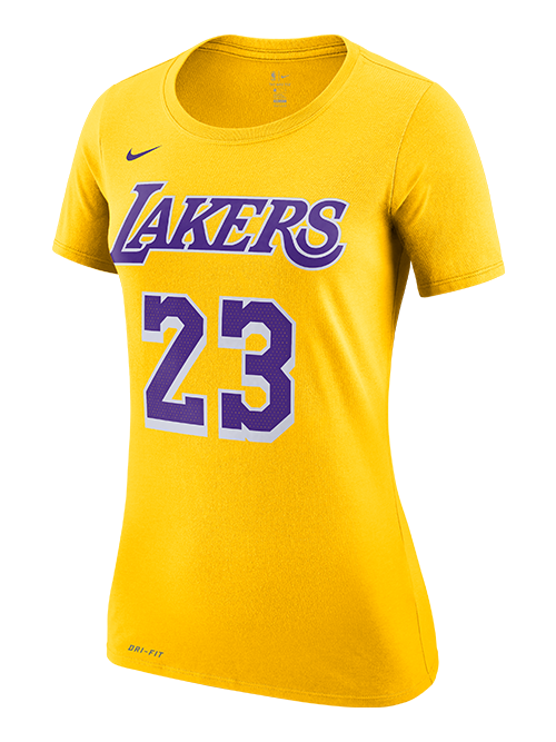free shipping f7e6c 948dd Los Angeles Lakers LeBron James Women's Icon Player T-Shirt