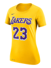 Los Angeles Lakers Women's Sparkle Dip Scoop Neck T-Shirt