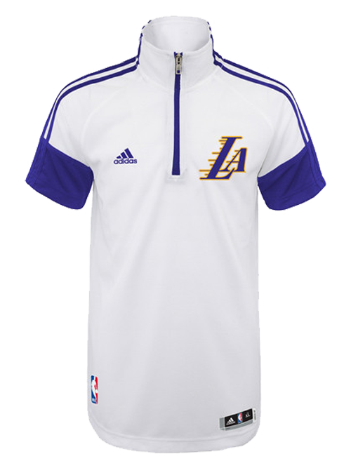 Los Angeles Lakers Youth On Court Gametime Shooting Quarter Zip T-Shirt