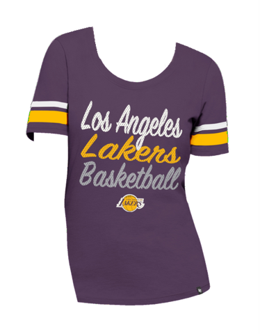 Los Angeles Lakers Womens 1948 City Arch Scoop Triblend Short Sleeve T-Shirt