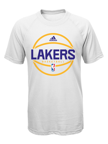 Los Angeles Lakers Youth On Court Practice Wear Basketball Logo T-Shirt