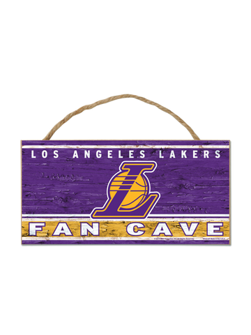Los Angeles Lakers 5x10 Rope Wood Sign