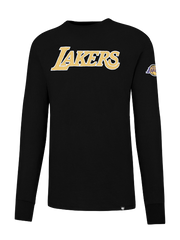 Los Angeles Lakers Wordmark Applique Long Sleeve T-Shirt