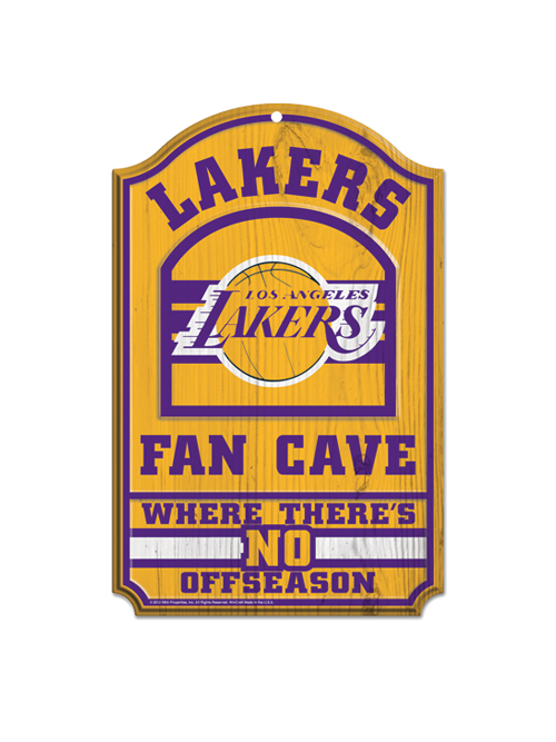 Los Angeles Lakers 11x17 Hockey Club Wood Sign