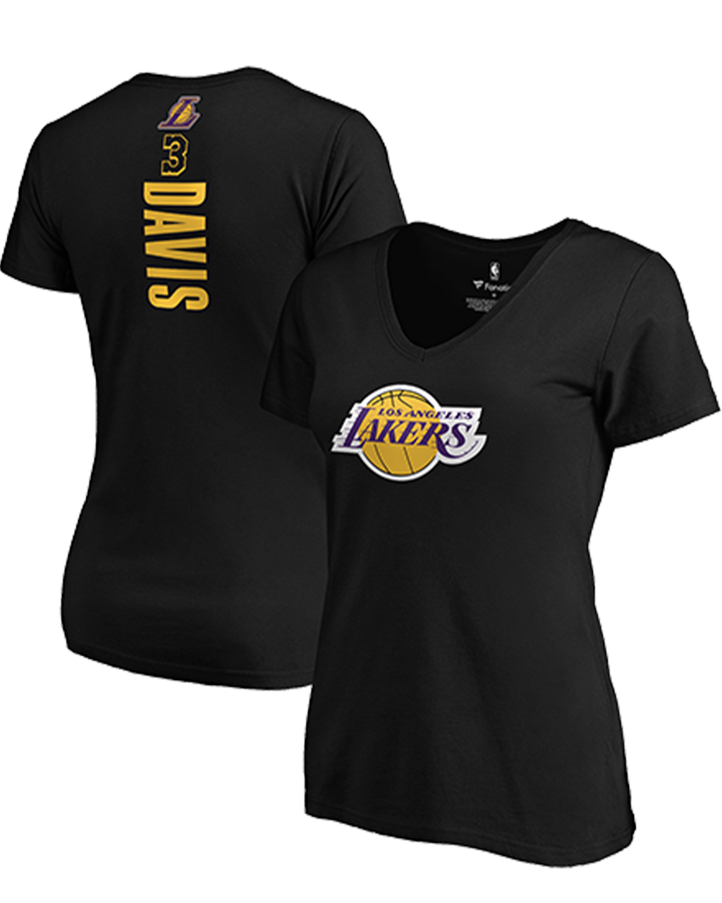 Name & Number Vertical Womens Anthony Davis Los Angeles Lakers Tee