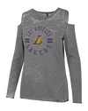 Los Angeles Lakers Women's Dry Showtime Full Zip Jacket - Grey