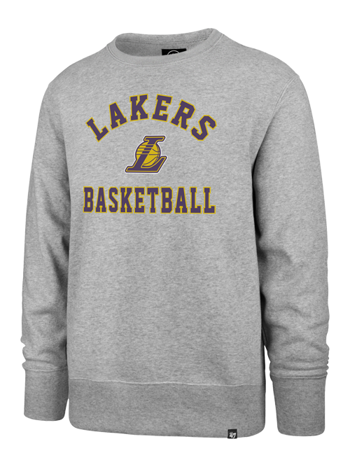 Los Angeles Lakers Varisty Arch L Ball Headline Crew - Grey