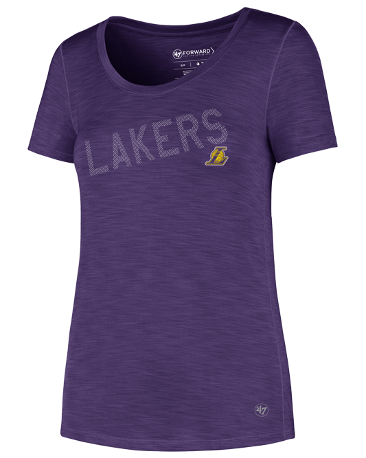 Los Angeles Lakers Women's Crossfade Forward Microlite T-Shirt