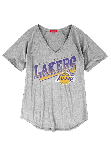 Los Angeles Lakers Women's Diagonal Sweep V Neck Tee
