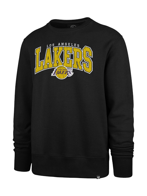Los Angeles Lakers Varsity Black Headline Crew