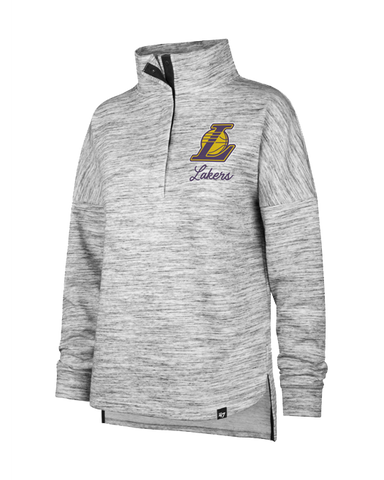 Los Angeles Lakers Women's City Edition Full Zip Hoody - Gold/White
