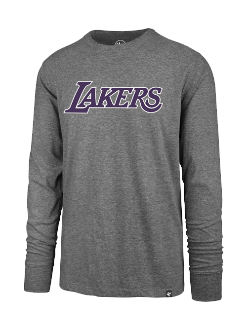Los Angeles Lakers Wordmark Super Rival Long Sleeve T-Shirt