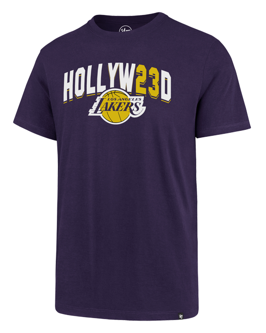 Los Angeles Lakers LeBron James Hollyw23d T-Shirt - Purple