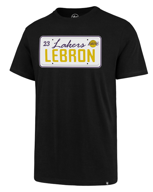 Los Angeles Lakers LeBron James License Plate T-Shirt