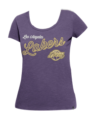 Los Angeles Lakers Women's Crosstown Scoop Scrum Short Sleeve Tee