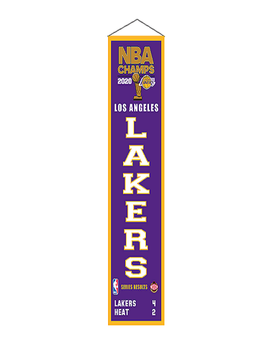 2020 NBA Champions Los Angeles Lakers Heritage Banner