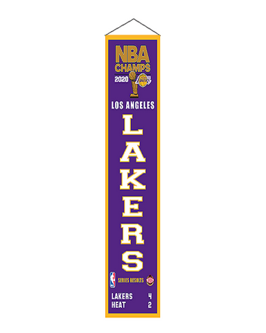 2020 NBA Champions Sublimated Los Angeles Lakers 16oz Pint Glass