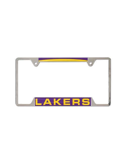 Los Angeles Lakers Inlaid Metal License Plate Frame