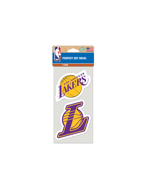 Los Angeles Lakers 4x8 Primary Logo Perfect Cut Clear Decal