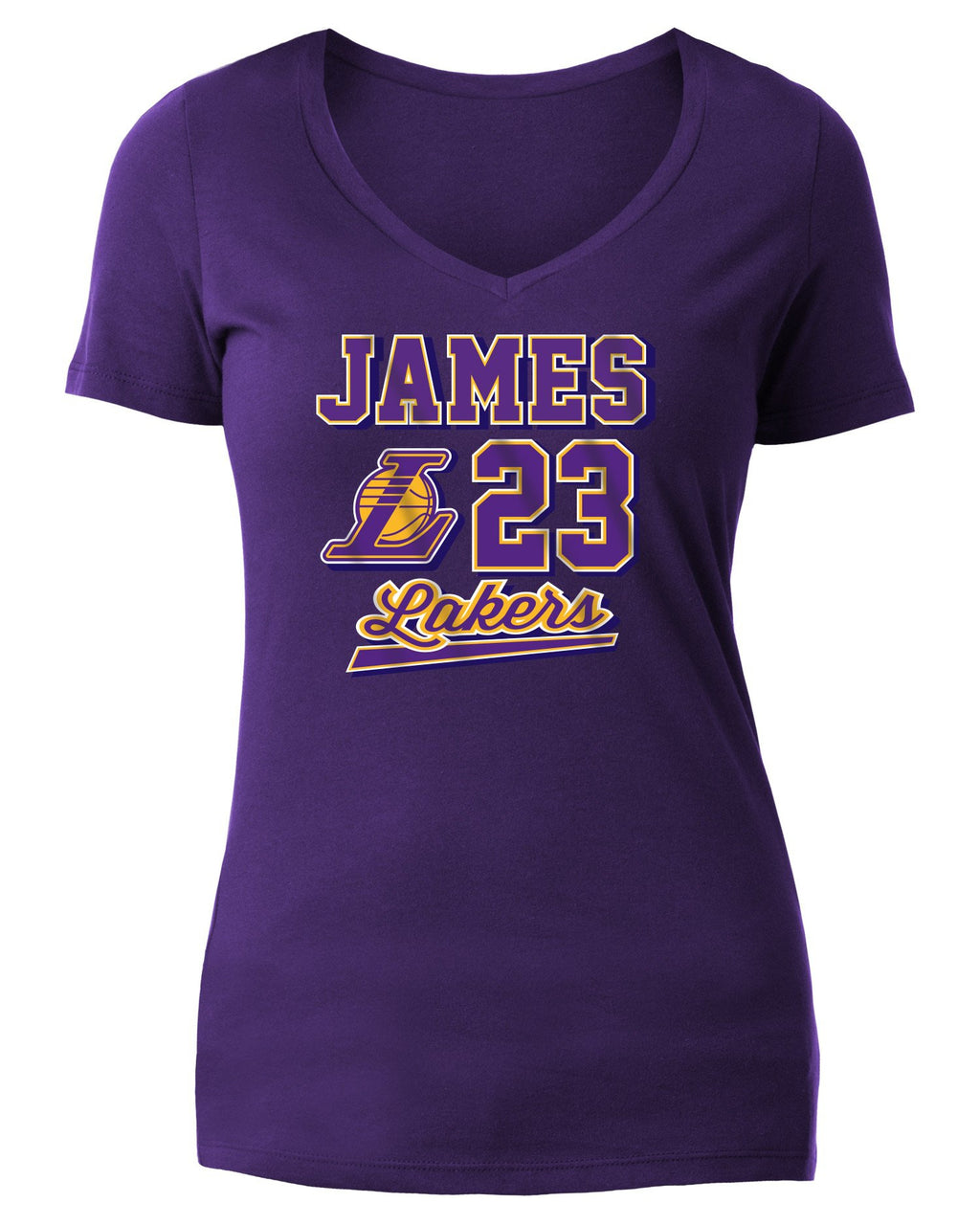 Ball Script Womens LeBron James Los Angeles Lakers Tee