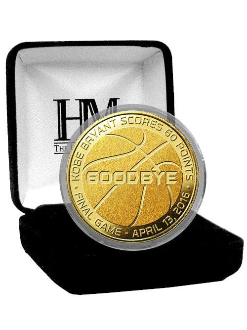 Los Angeles Lakers Kobe Bryant Goodbye Gold Mint Coin