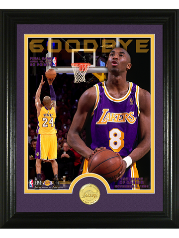 Los Angeles Lakers Kobe Bryant Goodbye Bronze Photomint Coin