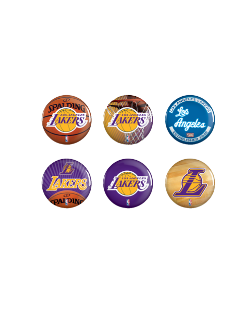 Los Angeles Lakers Six Pack of Buttons