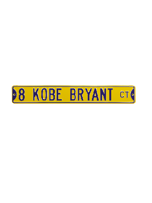 Los Angeles Lakers Kobe Bryant #8 Court Steel Street Sign