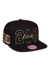 Los Angeles Lakers Lightning Snapback Cap