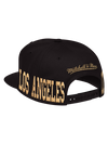 Los Angeles Lakers Gold Area Code Snapback Cap