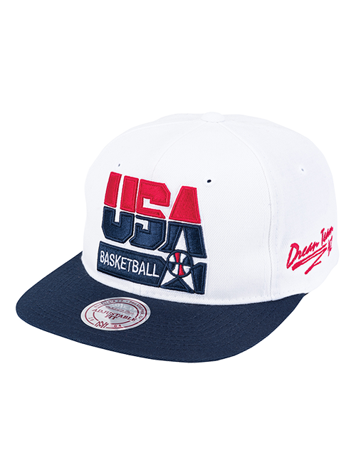 USA Basketball 1992 Dream Team Snapback Cap - White/Navy