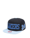 Los Angeles Lakers 9FORTY League Structured Adjustable Cap - Grey/Purple