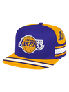 Los Angeles Lakers Cuff Script Pom Knit Beanie