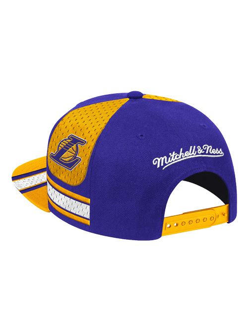 Los Angeles Lakers Jersey Stripe Brim Snapback Cap