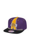 Los Angeles Lakers Uniform Detail Snapback Cap - Purple