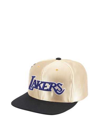 Los Angeles Lakers Women's Glitter Mesh Adjustable Snapback MVP Cap