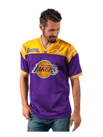 Los Angeles Lakers Arm Stripe Knit Pullover