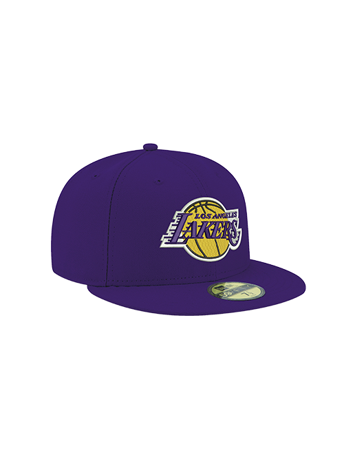 Los Angeles Lakers 59FIFTY Basic Purple Fitted Cap