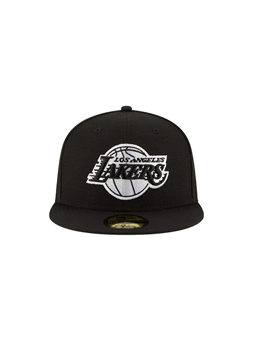 Los Angeles Lakers 59FIFTY Black & White Fitted Cap
