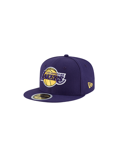 Los Angeles Lakers Kids 59FIFTY Fitted Cap - Purple