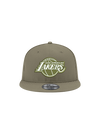 Los Angeles Lakers 9FIFTY New Olive Snapback Cap