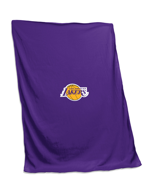 Los Angeles Lakers Primary Logo Sweatshirt Blanket - Purple