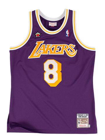 Los Angeles Lakers Authentic Hardwood Classic 1998 Kobe Bryant Road Jersey