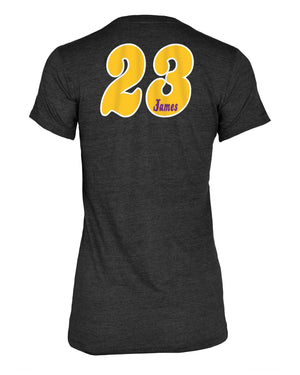 Los Angeles Lakers Women's LeBron James Triblend Player T-Shirt - Black