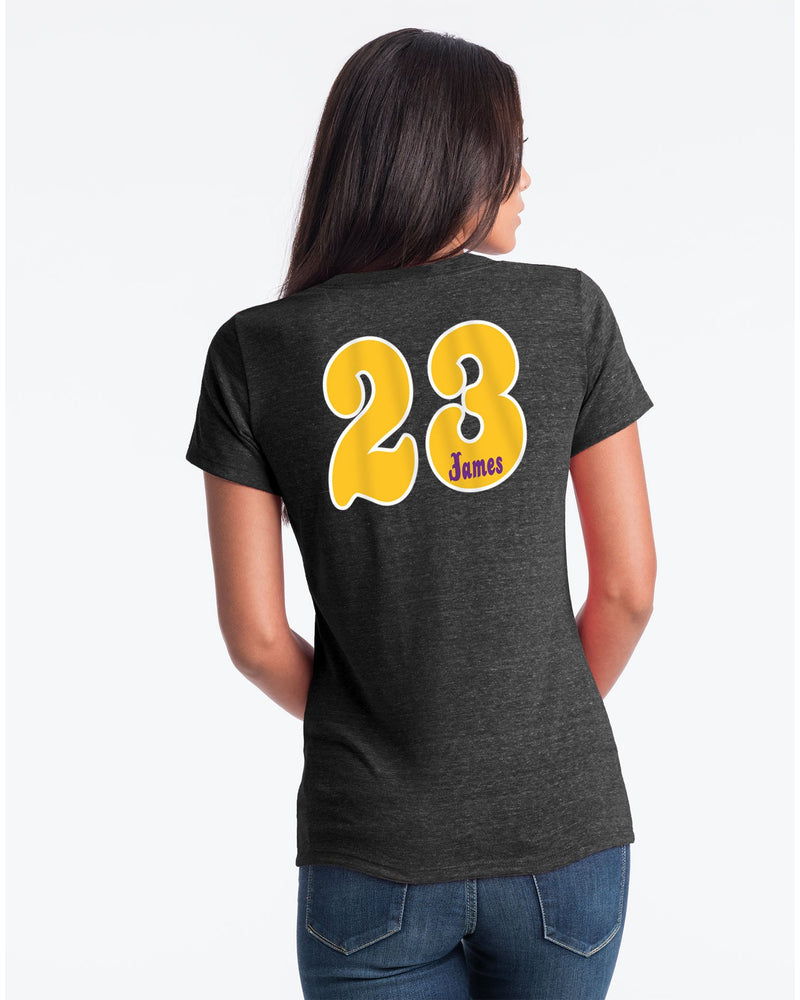 Triblend Player LeBron James Womens Los Angeles Lakers Tee